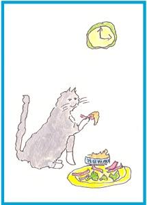 eating-hummusfloor