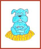 Woof, meditating